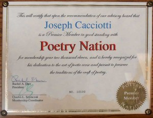 Honored by the Poetry Nation
